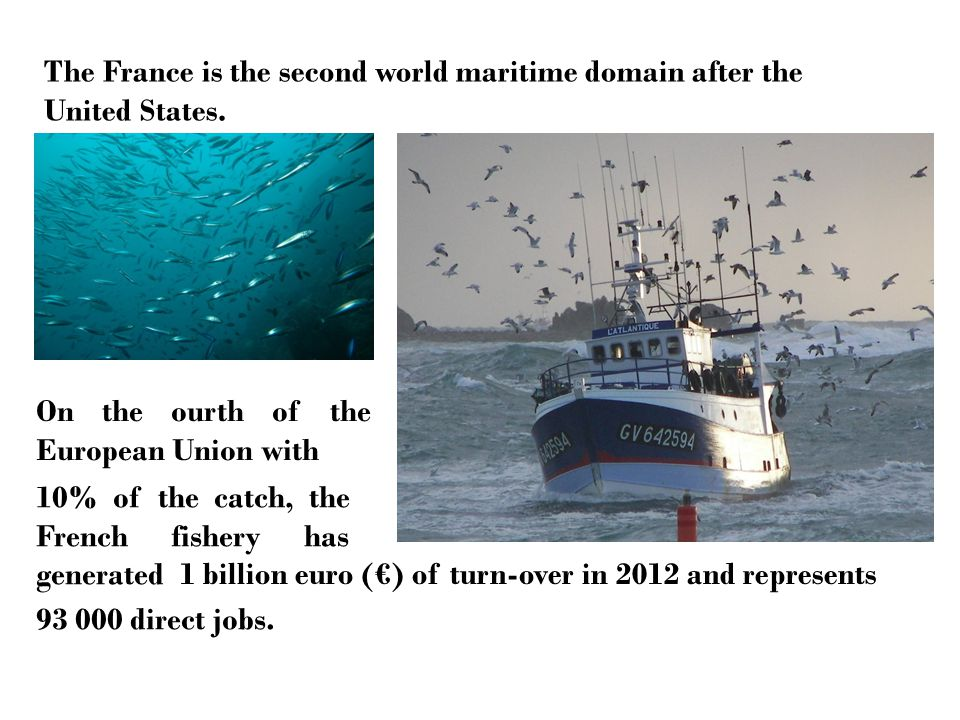 The France is the second world maritime domain after the United States.