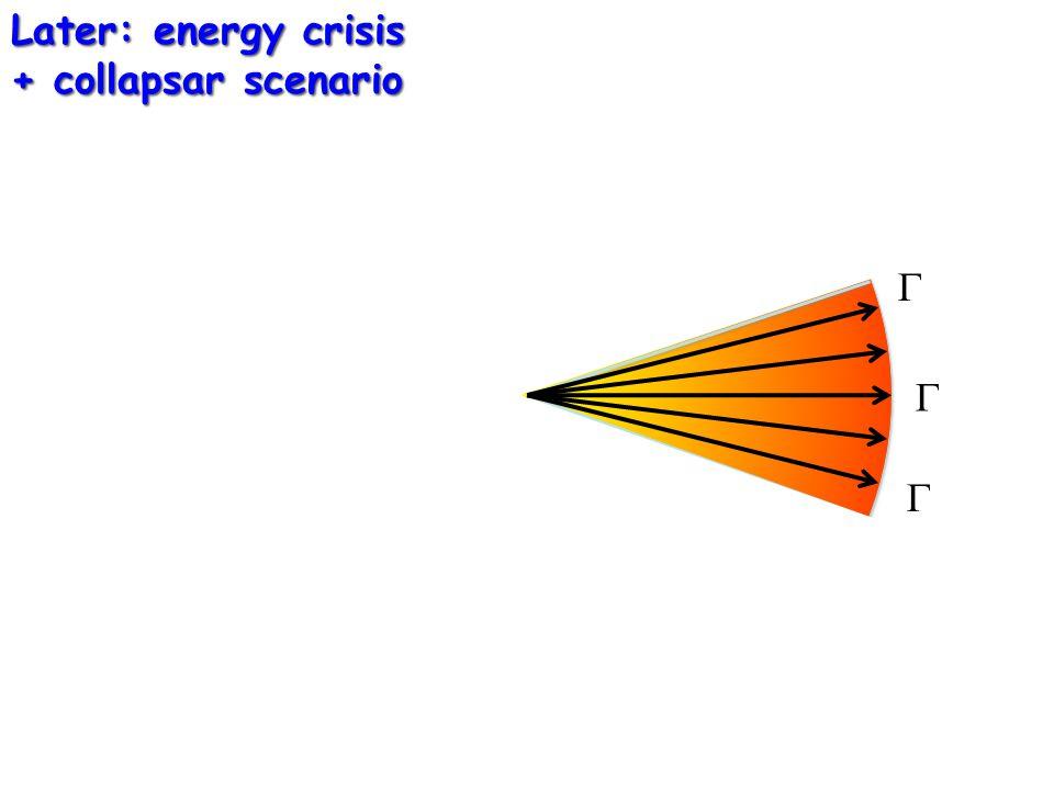   Later: energy crisis + collapsar scenario