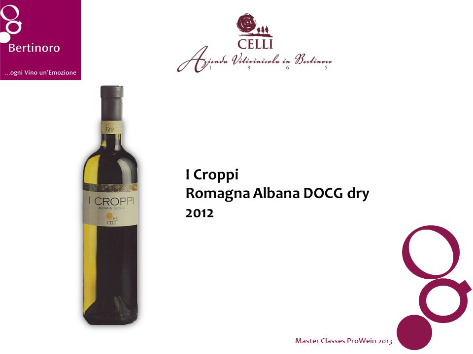 I Croppi Romagna Albana DOCG dry 2012 Master Classes ProWein 2013