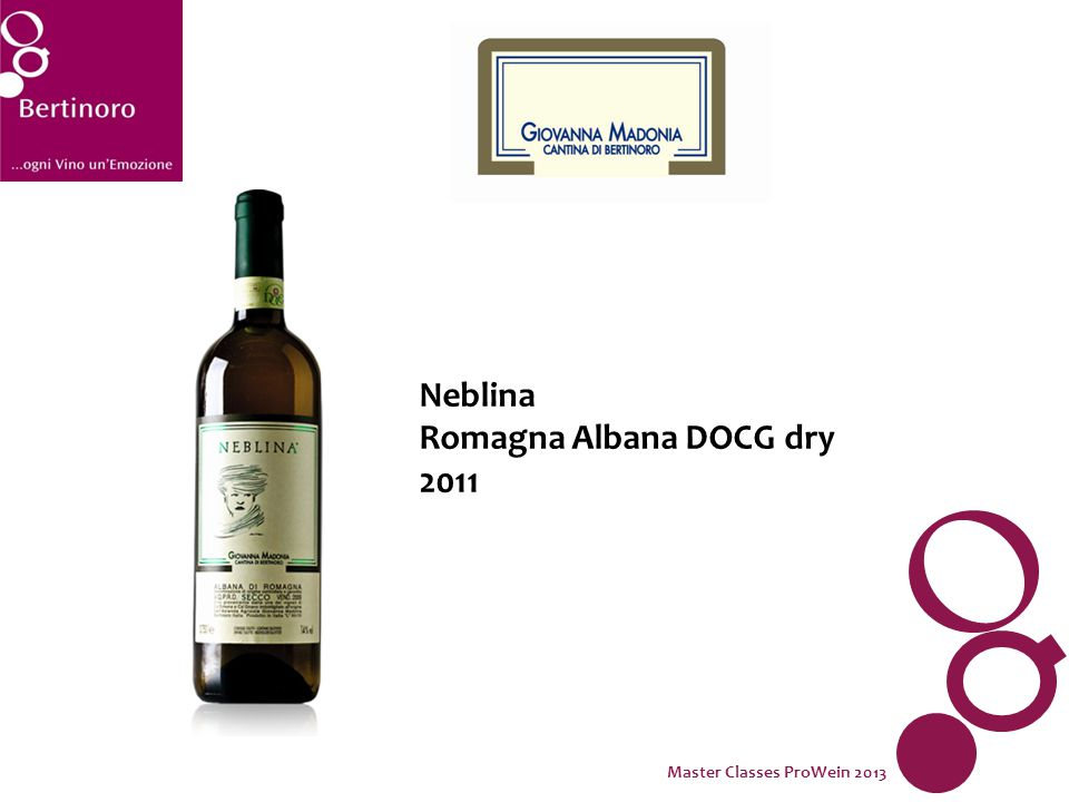 Neblina Romagna Albana DOCG dry 2011 Master Classes ProWein 2013