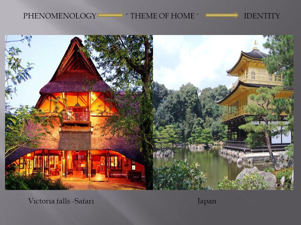 PHENOMENOLOGY ' THEME OF HOME ' IDENTITY Vıctorıa falls -Safarı Japan
