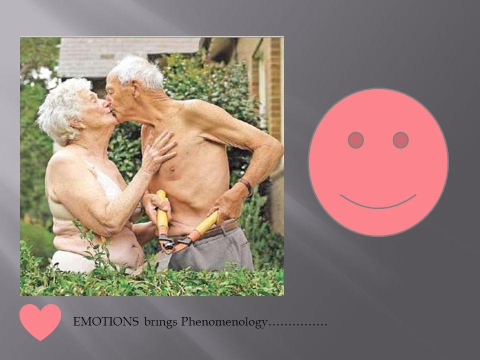 EMOTIONS brıngs Phenomenology……………