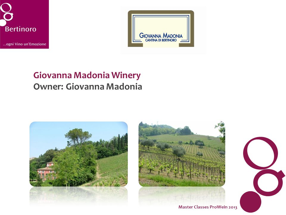 Giovanna Madonia Winery Owner: Giovanna Madonia Master Classes ProWein 2013