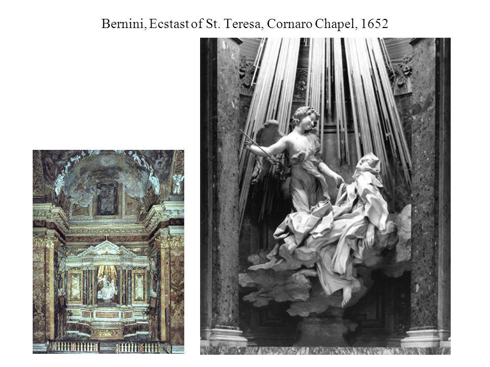 Bernini, Ecstast of St. Teresa, Cornaro Chapel, 1652