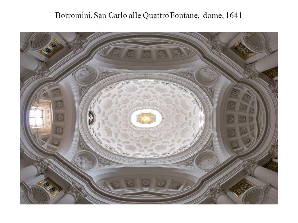 Borromini, San Carlo alle Quattro Fontane, dome, 1641