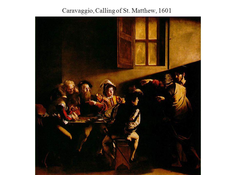 Caravaggio, Calling of St. Matthew, 1601