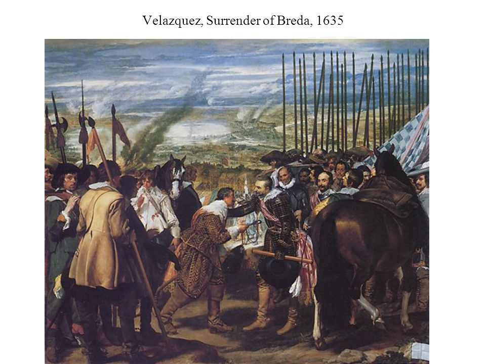 Velazquez, Surrender of Breda, 1635