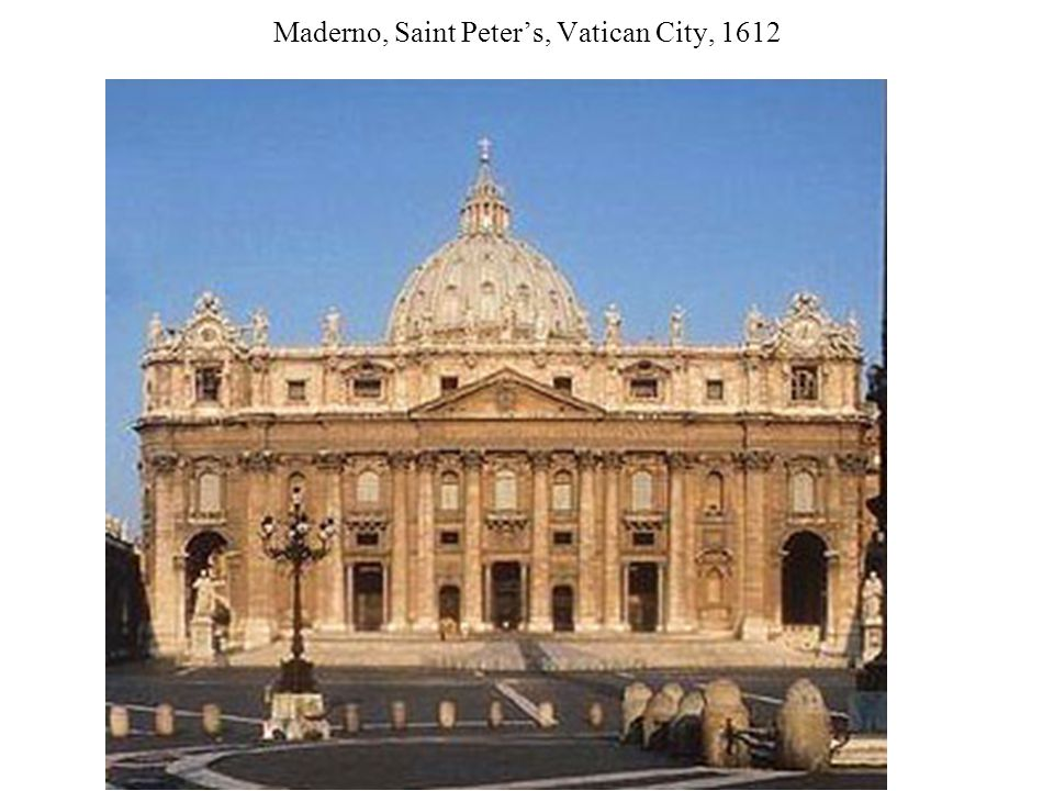 Maderno, Saint Peter's, Vatican City, 1612