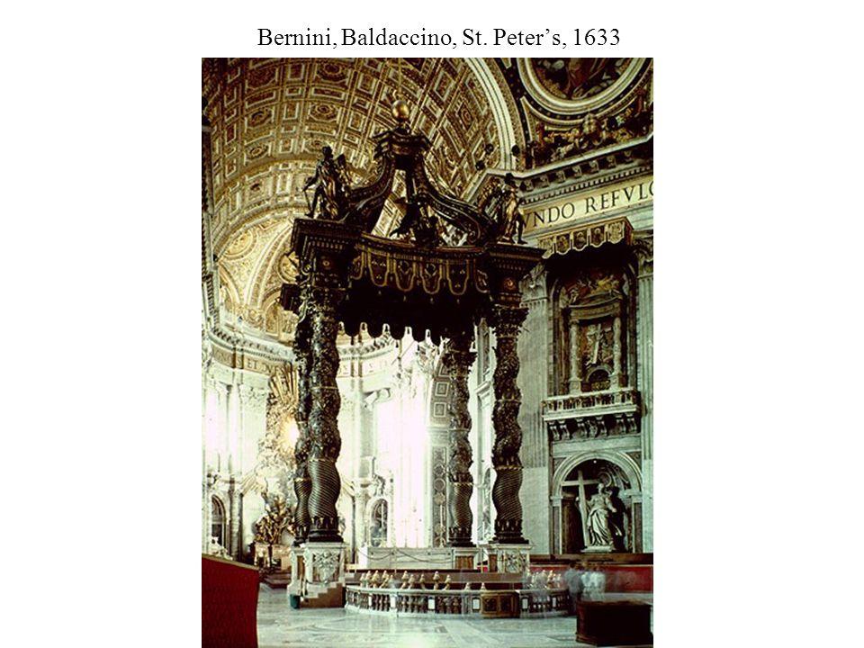 Bernini, Baldaccino, St. Peter's, 1633