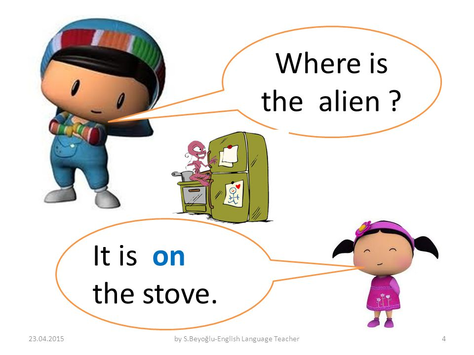 Where is the alien It is on the stove. 23.04.2015by S.Beyoğlu-English Language Teacher4