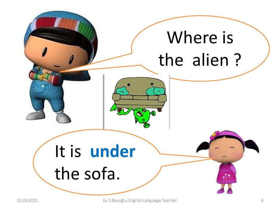 Where is the alien It is under the sofa. 23.04.2015by S.Beyoğlu-English Language Teacher6