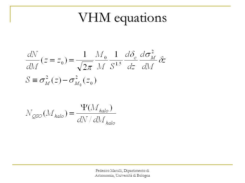 VHM equations