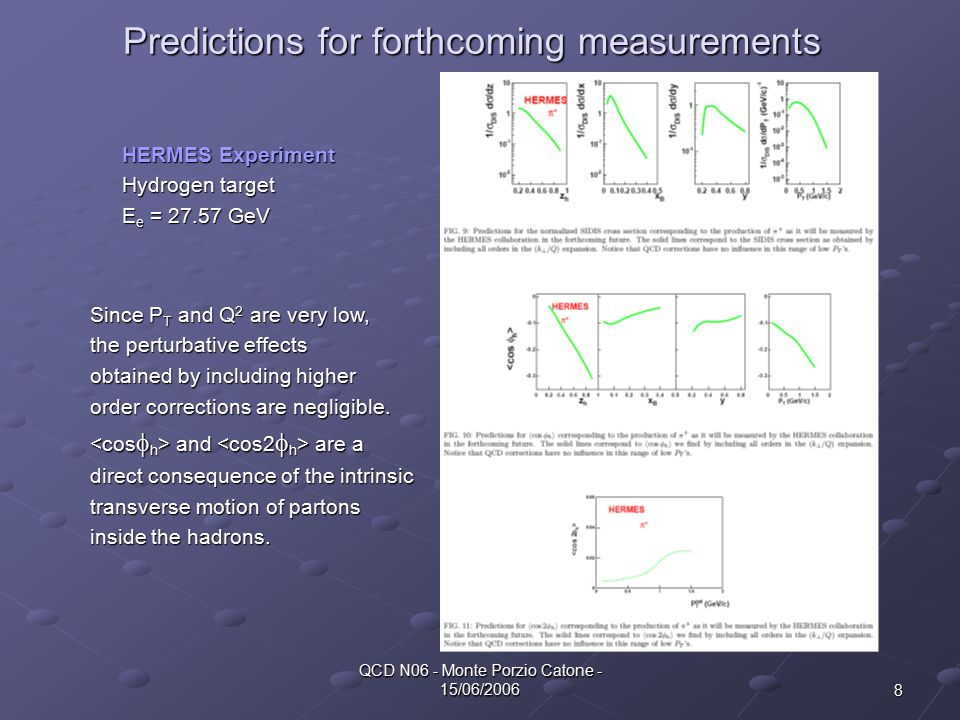 9 QCD N06 - Monte Porzio Catone - 15/06/2006 Predictions for Jlab Predictions for COMPASS