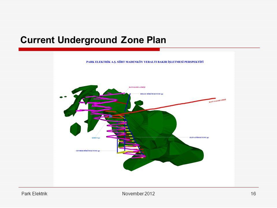 Park Elektrik16 Current Underground Zone Plan November 2012