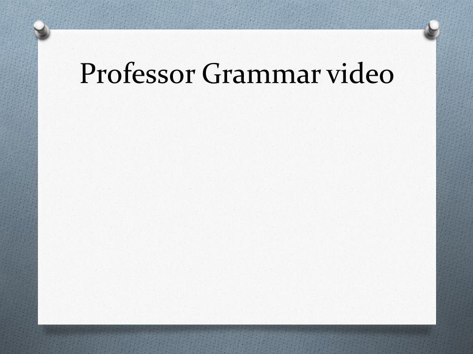 Professor Grammar video