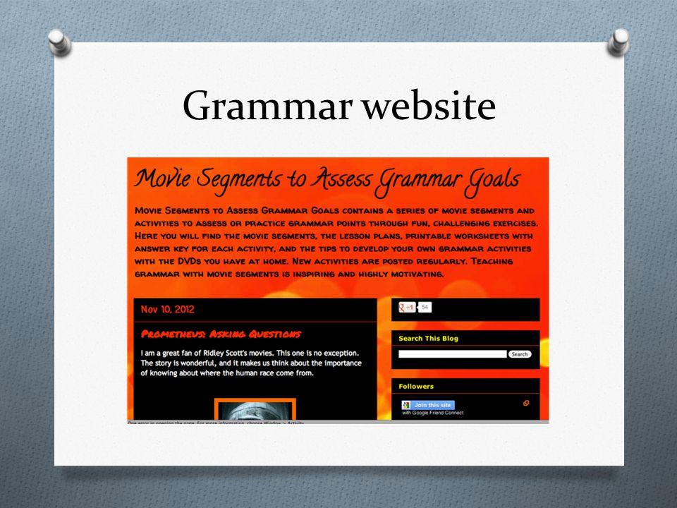 Grammar website