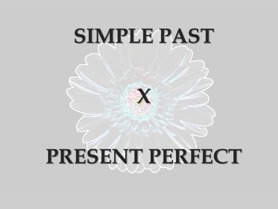 SIMPLE PAST X PRESENT PERFECT