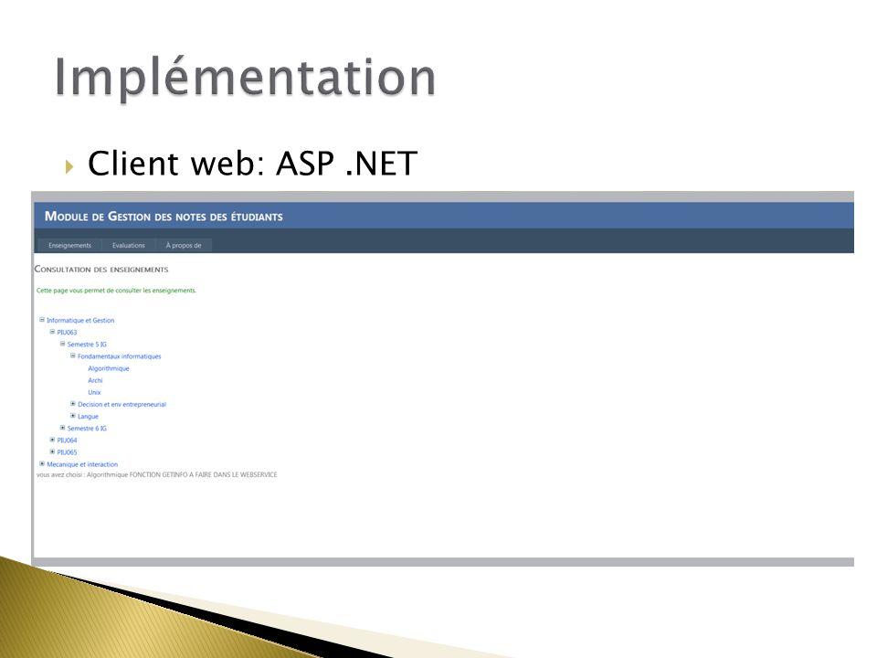  Client web: ASP.NET
