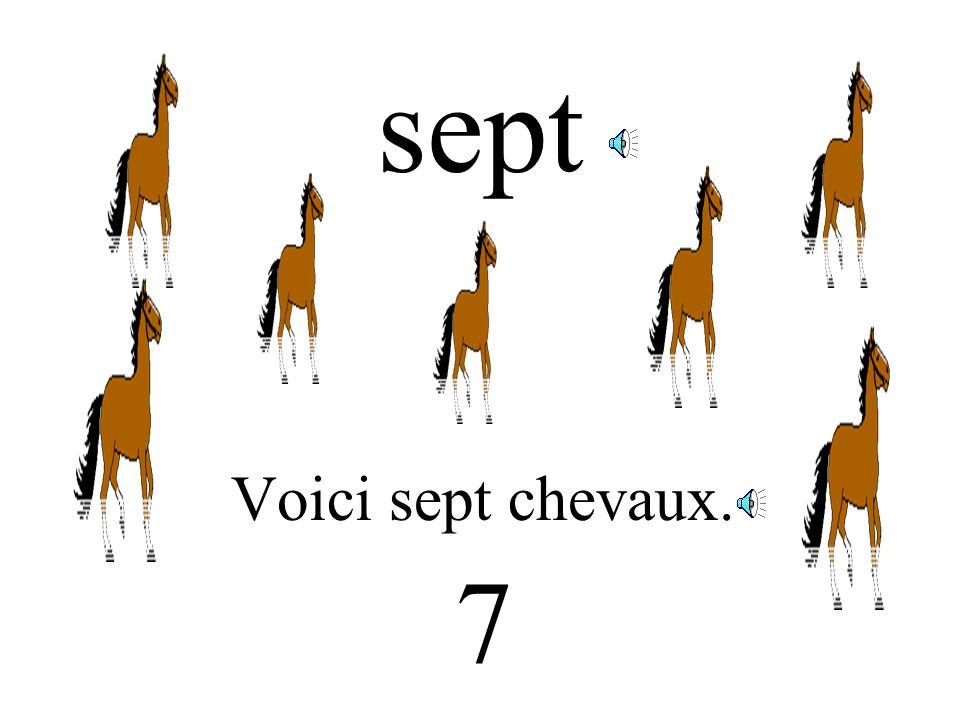 six Voici six cerises. 6