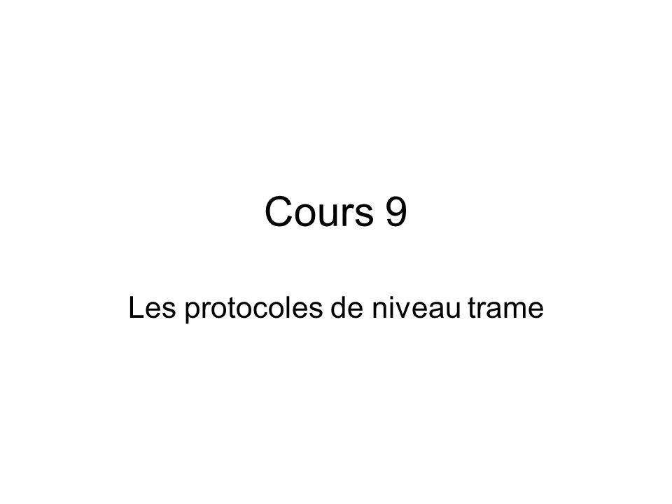 Cours 9 Les protocoles de niveau trame