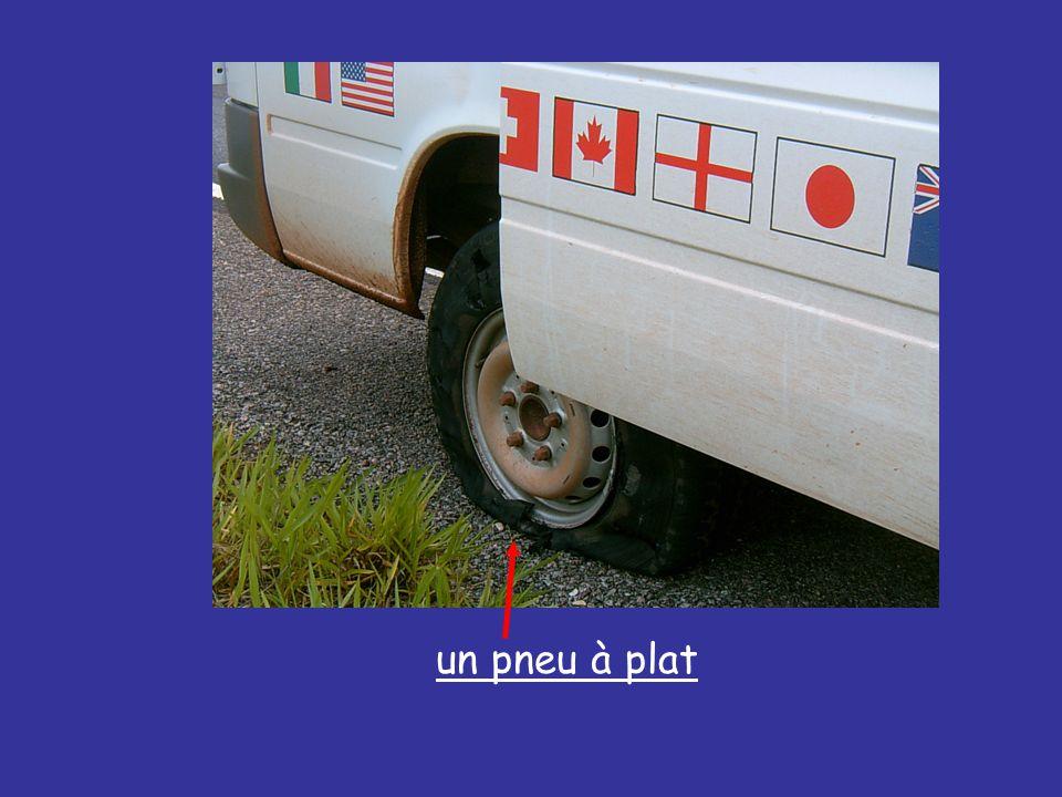un pneu à plat