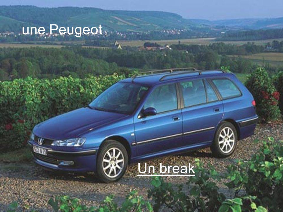 Un break une Peugeot