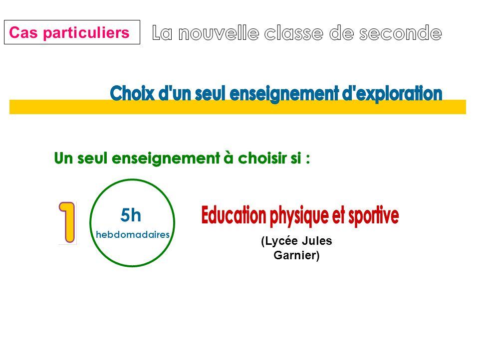 5h hebdomadaires (Lycée Jules Garnier) Cas particuliers