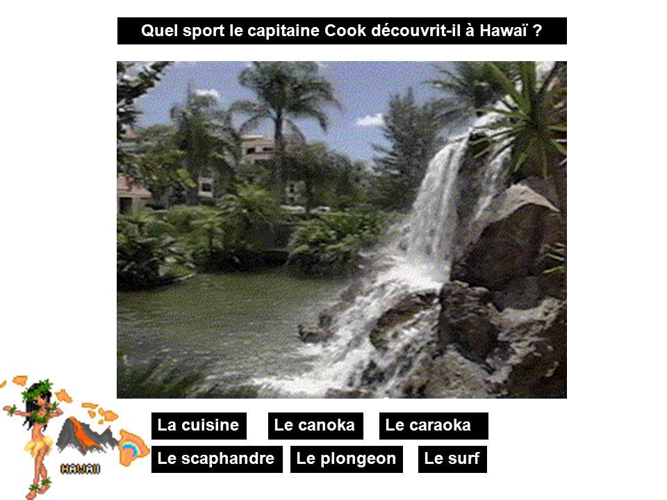Quel sport le capitaine Cook découvrit-il à Hawaï .