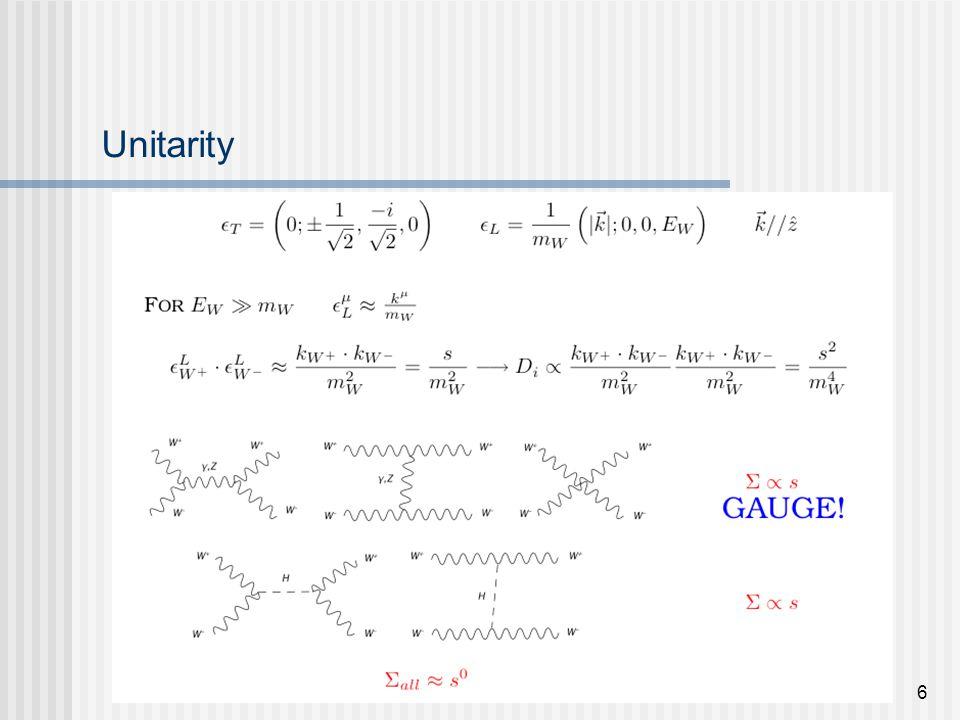 E. Maina - VV at LHC with Phase - Les Houches 20056 Unitarity