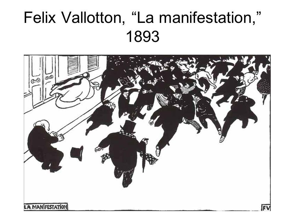 """Felix Vallotton, """"La manifestation,"""" 1893"""