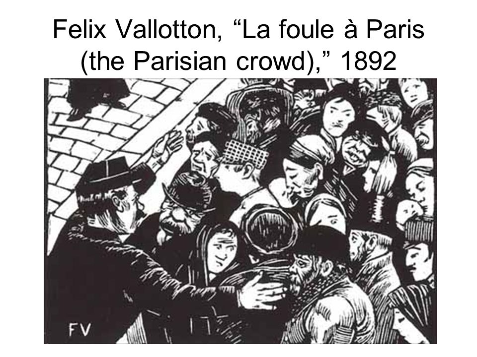 Felix Vallotton, La foule à Paris (the Parisian crowd), 1892