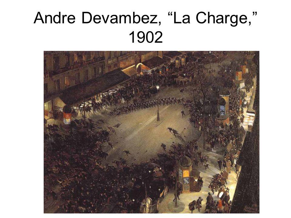 "Andre Devambez, ""La Charge,"" 1902"