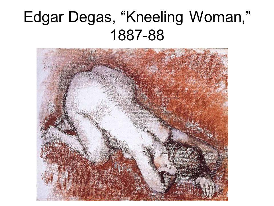"Edgar Degas, ""Kneeling Woman,"" 1887-88"
