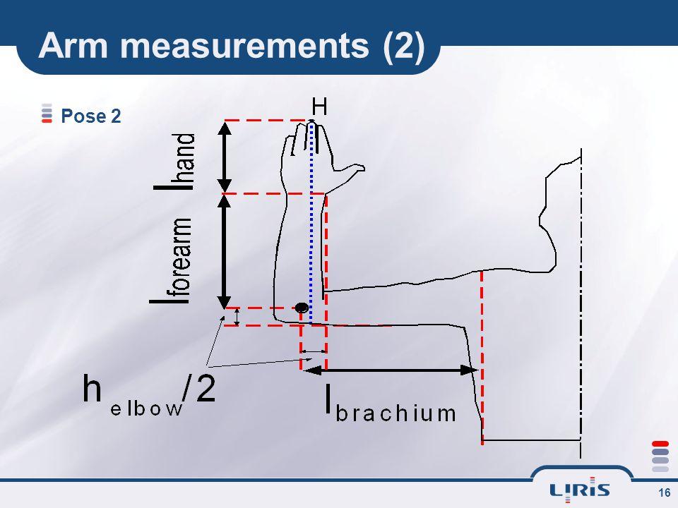 16 Arm measurements (2) Pose 2