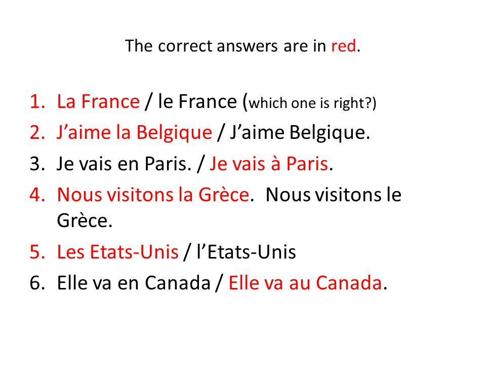 Today's assignment: 1.Page 439 Act. 5. Use visiter in passé composé.
