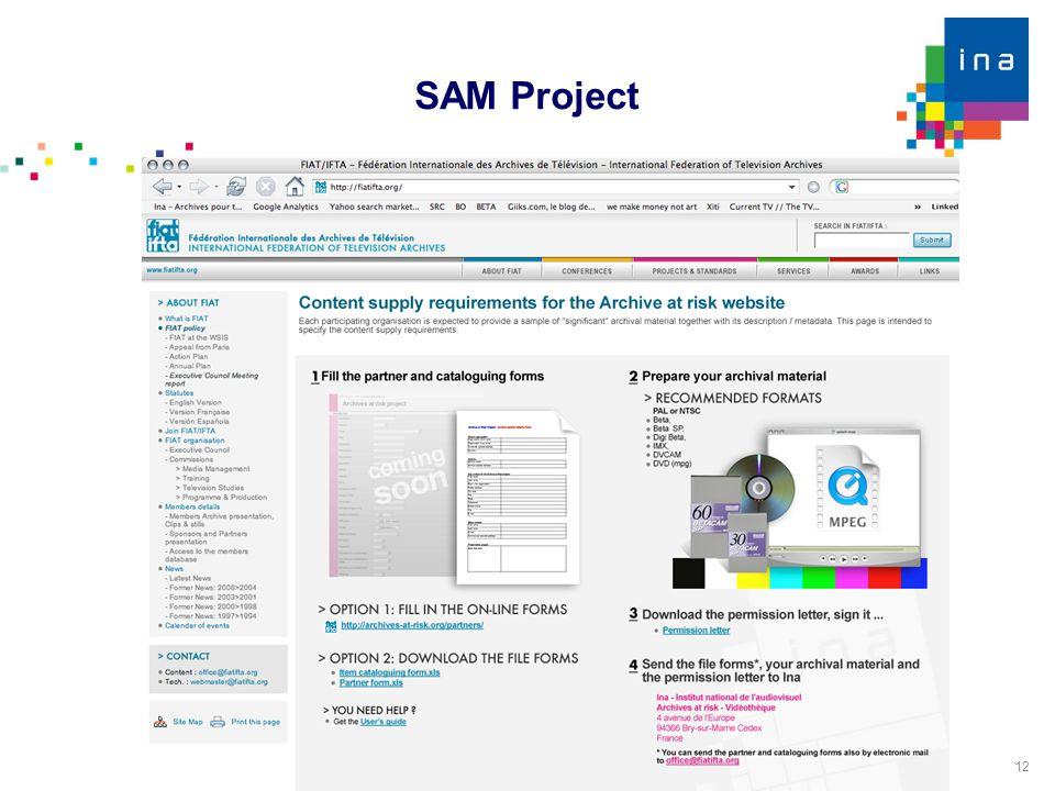 12 SAM Project