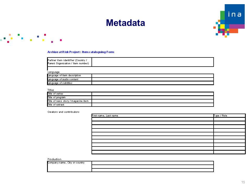 15 Metadata