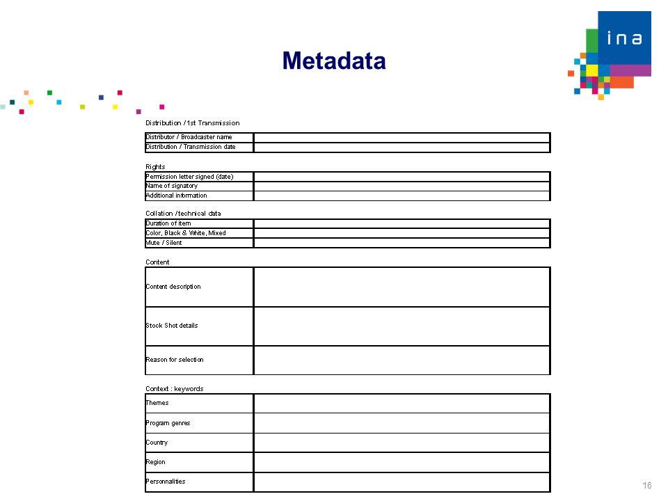 16 Metadata