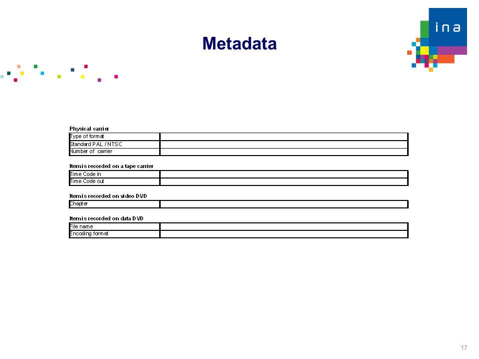 17 Metadata