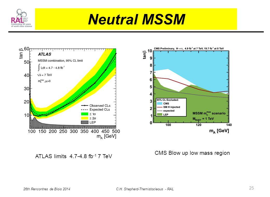 25 Neutral MSSM 26th Rencontres de Blois 2014 C.H.