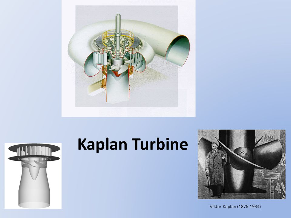 Kaplan Turbine Viktor Kaplan (1876-1934)