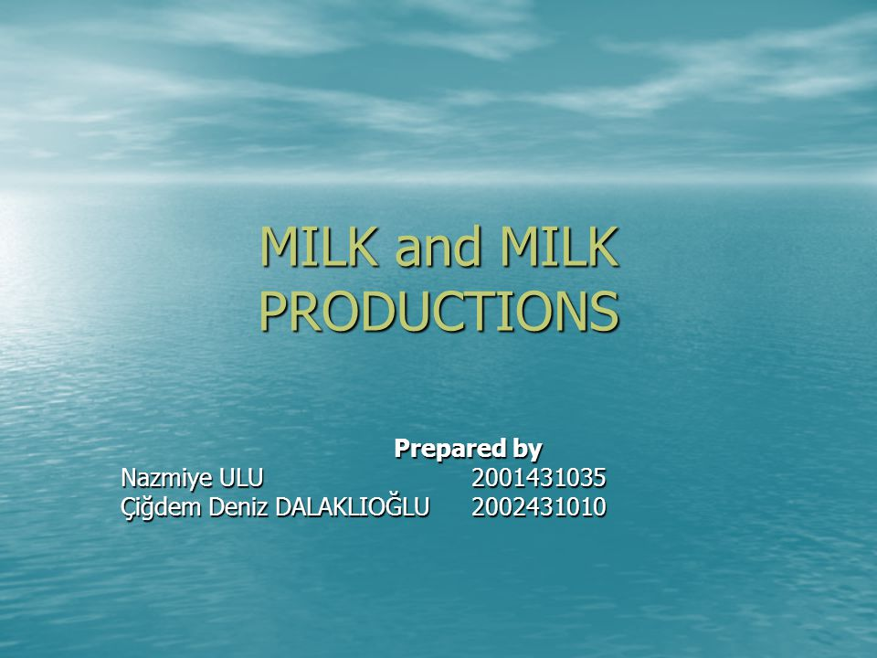 HISTORY OF DAIRY PRODUCTS INDUSTRY A mosaic frieze was found A mosaic frieze was found First milk users are nomads from Central Asia.