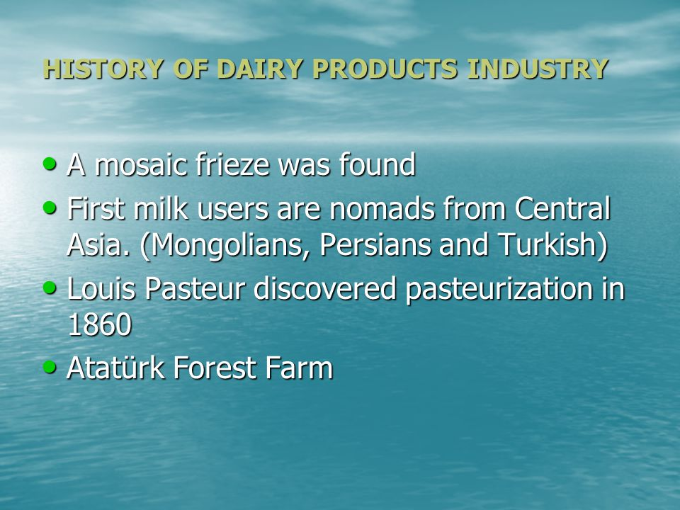 MARKET STRUCTURE of DAIRY PRODUCTS in TURKEY INSTITUTIONS in the INDUSTRY INSTITUTIONS in the INDUSTRY THREATS FOR NEW ENTRANTS OF DAIRY INDUSTRY THREATS FOR NEW ENTRANTS OF DAIRY INDUSTRY INSTITUTIONS in the INDUSTRY INSTITUTIONS in the INDUSTRY SUPLIERS in the INDUSTRY SUPLIERS in the INDUSTRY CONSUMERS in the INDUSTRY CONSUMERS in the INDUSTRY GOVERNMENT POLICIES in TURKEY for DAIRY INDUSTRY GOVERNMENT POLICIES in TURKEY for DAIRY INDUSTRY EXTERNAL TRADE of TURKEY in DAIRY PRODUCTS INDUSTRY EXTERNAL TRADE of TURKEY in DAIRY PRODUCTS INDUSTRY