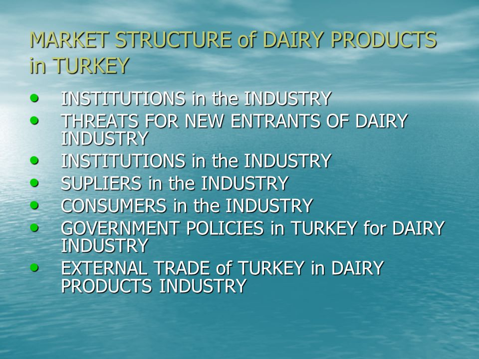TECHNOLOGY A lot of unsregistered firms mostly using primitive techniques A lot of unsregistered firms mostly using primitive techniques institutional firms in the industry achieve state-of-the-art dairy technology institutional firms in the industry achieve state-of-the-art dairy technology
