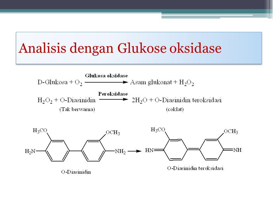 Analisis dengan Glukose oksidase