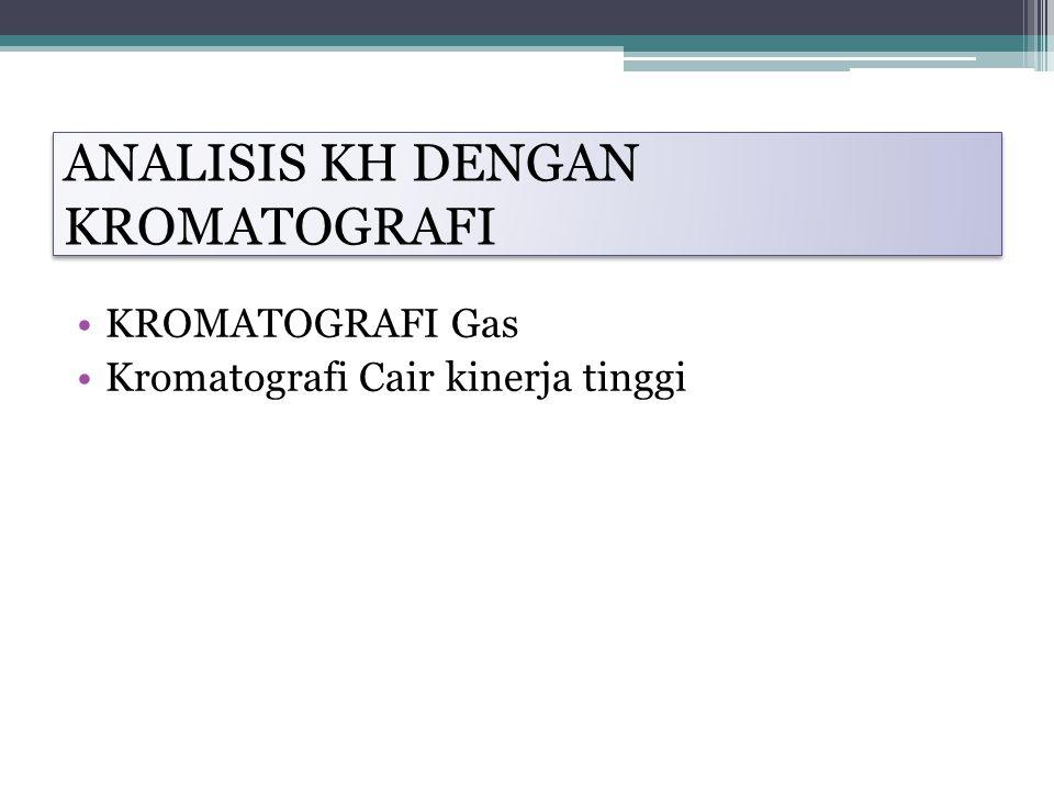 ANALISIS KH DENGAN KROMATOGRAFI KROMATOGRAFI Gas Kromatografi Cair kinerja tinggi