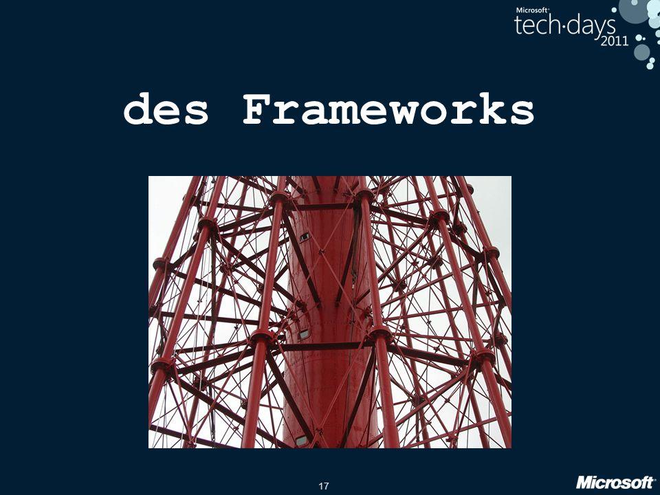 17 des Frameworks