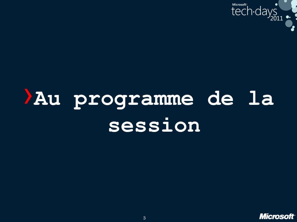 3 › Au programme de la session