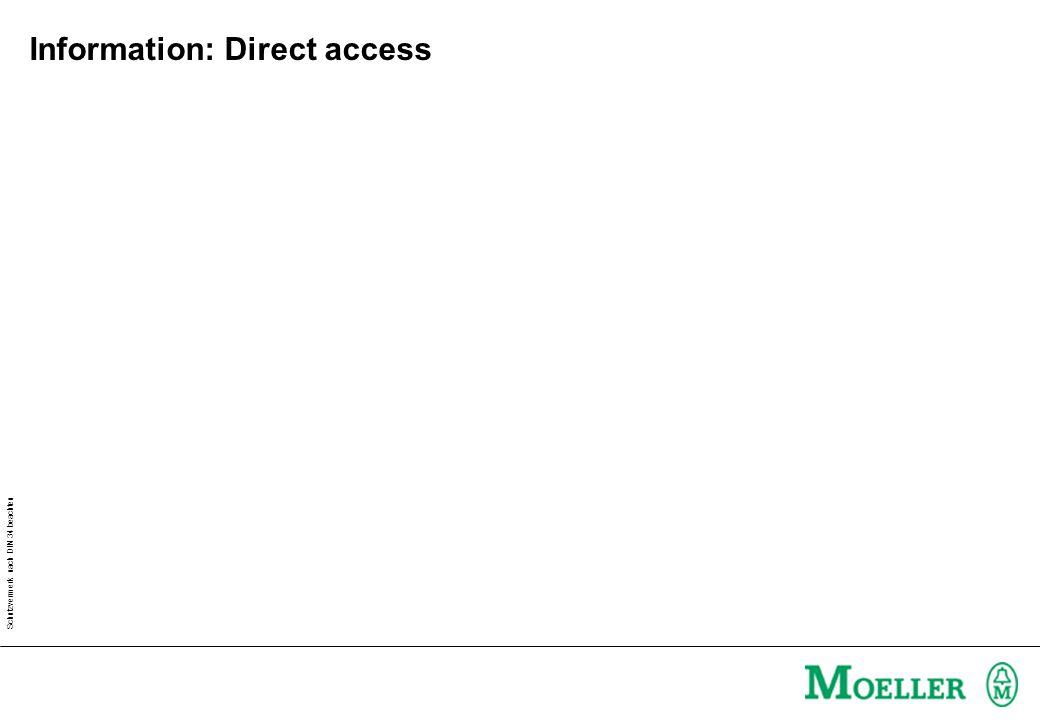 Schutzvermerk nach DIN 34 beachten Information: Direct access