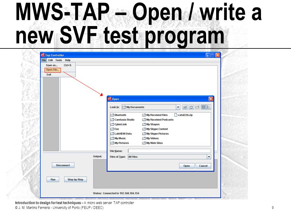 Introduction to design for test techniques – A micro web server TAP controller © J.